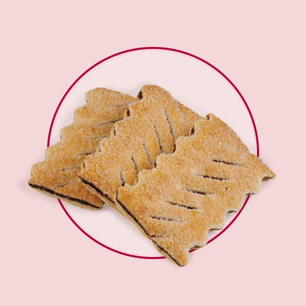 Печенье слоеное Полоски с фиником